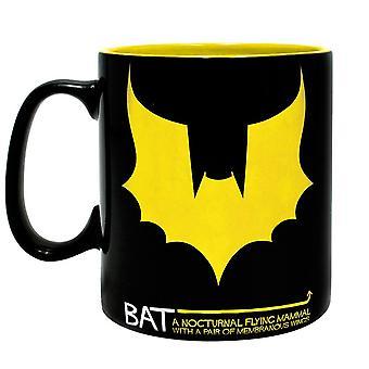 DC Comics XL Cup BAT/MAN Batman & bat black & yellow, printed, ceramic, capacity approx. 460 ml...