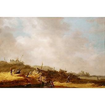 Landscape with Dunes,Jan van Goyen,54x37.5cm