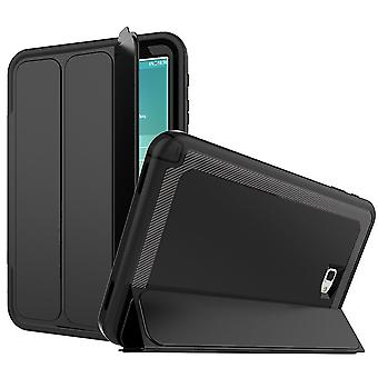 Multi-part hybrid outdoor protective cover case black for Samsung Galaxy tab A 10.5 T590 / T595 Pocket wake UP 3folt