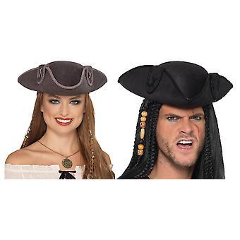 Tricorn Korsan Kaptan Şapka Üç uçlu Kaptan Korsan Aksesuar