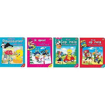 Warner Bros kartonboek met 6 puzzels