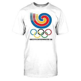 Seul 88 Jogos Olímpicos - retrô Mens T-Shirt de verão