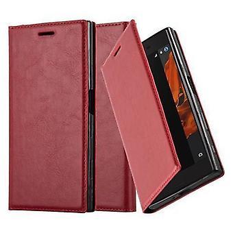 Cadorabo Hülle für Sony Xperia X Compact Case Cover - Handyhülle mit Magnetverschluss, Standfunktion und Kartenfach – Case Cover Schutzhülle Etui Tasche Book Klapp Style