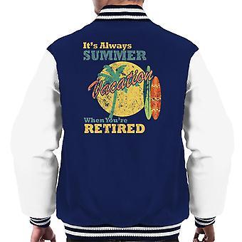 Altijd zomer wanneer Youre gepensioneerde mannen is Varsity Jacket