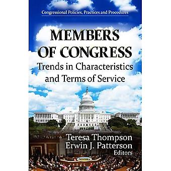 MEMBERS OF CONGRESS TRENDS IN (Congressional Policies, Practices and Procedures: Government Procedures and Operations)