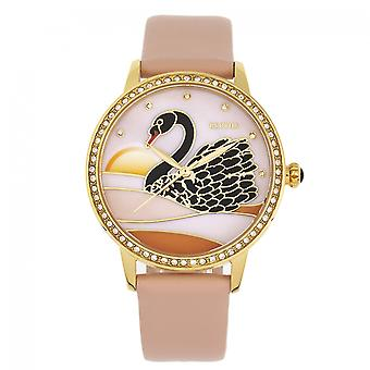 Bertha gracia fregona banda de cuero reloj - albaricoque