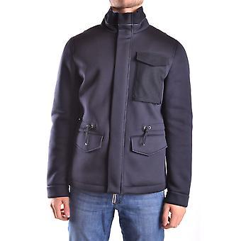 Paolo Pecora Ezbc059006 Men's Blue Wool Outerwear Jacket