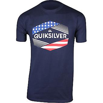 Quiksilver Mens Stars & Stripes T-Shirt - Navy Blazer