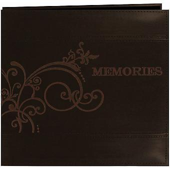 Pioneer Embroidered Leatherette Post Bound Album 12