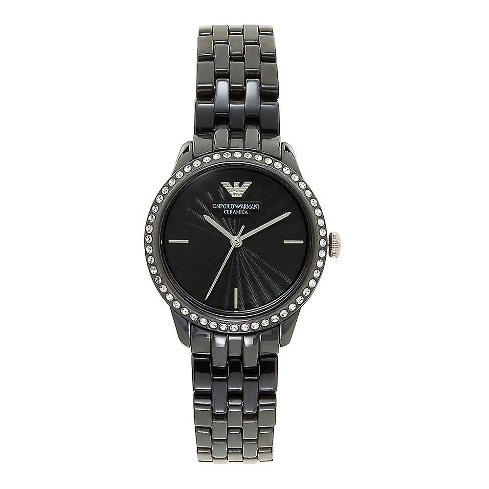 Armani Watches Ar1478 Black Ceramic Ladies Watch