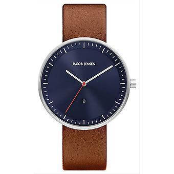 Jacob Jensen Strata Series Watch - Brown/Blue