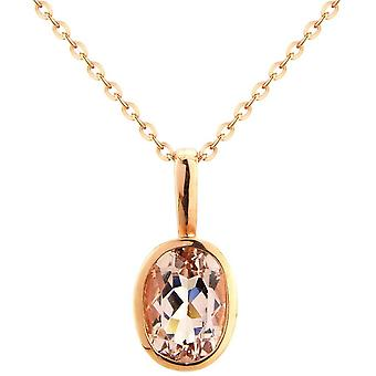 Mark Milton Large Oval Morganite Pendant - Rose Gold