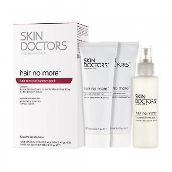 Skin lekarze Hair nie więcej system-pakiet do usuwania włosów-2 x Krem do usuwania + 1 x inhibitor spray