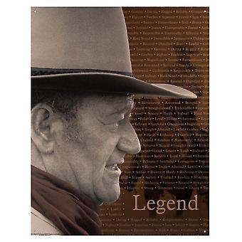 John Wayne 'Legend' Metal Sign