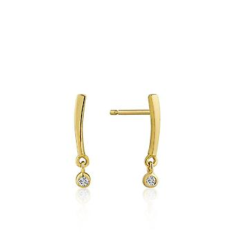 Boucle d'oreille Ania Haie Gold Plated Sterling Silver 'Touch Of Sparkle Shimmer' Bar Stud