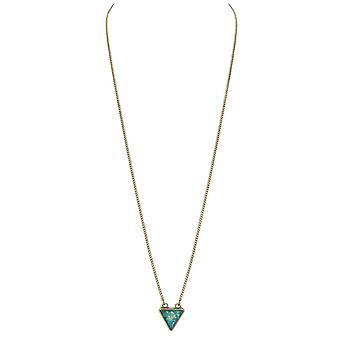Eternal Collection Eudora Faux Opal Long Statement Gold Tone Necklace