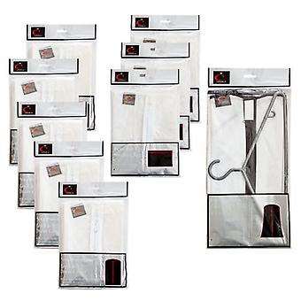 Peva Dress Covers x5,Sweater Bags x3,Long Coat Bag x1 Moth & Mould Proof by Caraselle