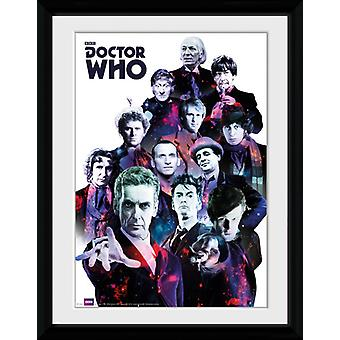 Doctor Who kosmos inramade Collector Print 40x30cm