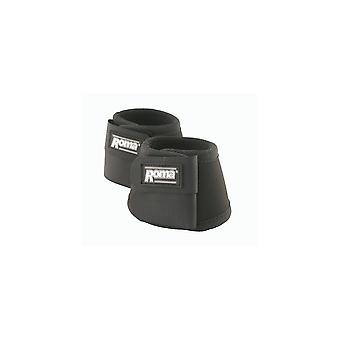 Roma Pony/horse Neoprene Bell Boots - Black