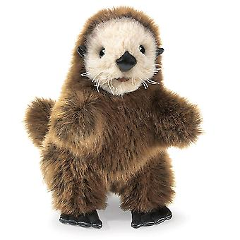 Hand Puppet - Folkmanis - Otter Baby Sea New Animals Soft Doll Plush Toys 2960