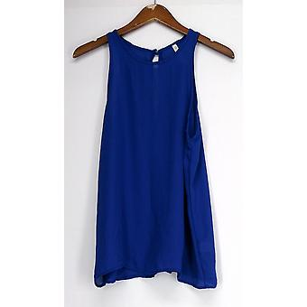 Lyss Loo Top At First Crush Crew Neck Tank Natural Blue Womens