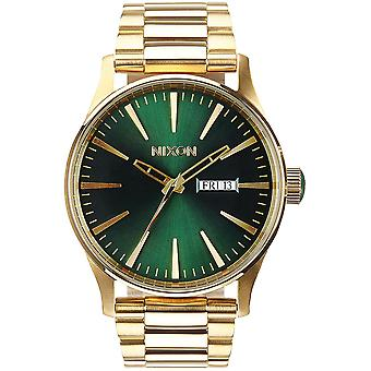 Nixon Sentry Quartz Analog Man Watch with A3561919 Gold Plated Stainless Steel Bracelet