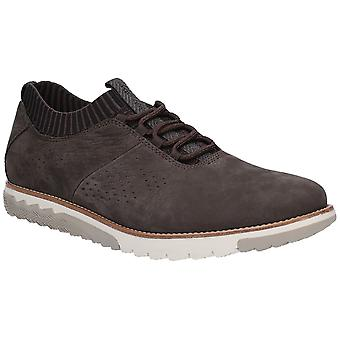 Hush Cachorros Hombres Experto Knit Oxford Lace Up Trainer Off Black
