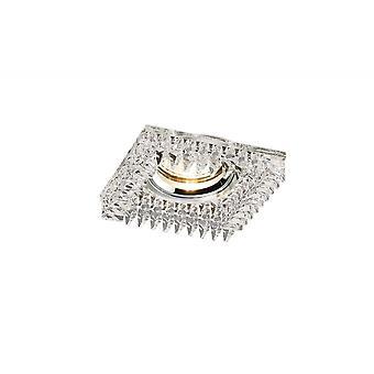 Diyas Crystal downlight Square met vierkante kristallen omtrek rand alleen duidelijk, IL30800 vereist om het item te voltooien
