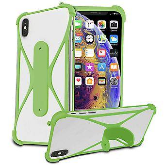 Stretchy Silicone Phone Bumper X-Shape Design Case Cover For BLU A5 Energy 5-quot; (Vert)