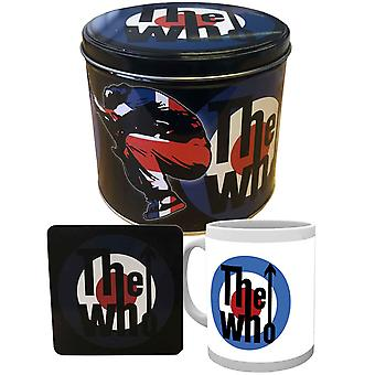 The Who Gift Set Mug and Coaster Target band logo presentation tin Official