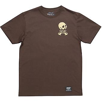 Scramble Coffee Then Chokes T-Shirt - Brown