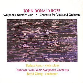 John Donald Robb - John Donald Robb: Symphony Number One; Concerto for Viola and Orchestra [CD] USA import