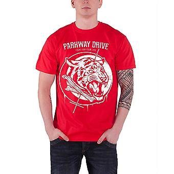 Parkway Drive Mens T Shirt Red Tiger Bones band logo Official