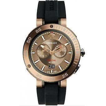 فيرساتشي - ساعة اليد - الرجال - سوار السيليكون الأسود - V-Extreme VECN00319