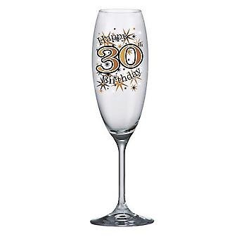 Simon Elvin Keepsakes 30th Champagne Flute Glass