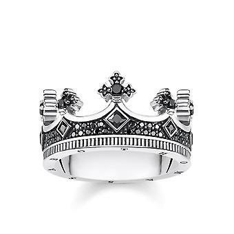 תומאס Sabo סטרלינג כסף תומאס סאבו מורד בבית המלוכה טבעת כתר TR2208-643-11