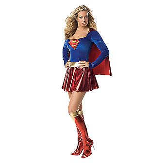 Supergirl deluxe costume mini dress original for women