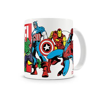 Marvel Comics Cup Heroes white, printed, 100% ceramic, capacity approx. 320 ml.