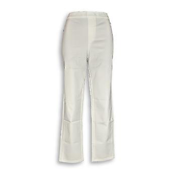 Isaac Mizrahi Live! Women's Pants 24/7 Stretch Print White A302696