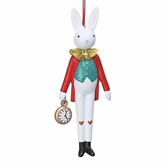 Gisela Graham Resin Rabbit with Watch Decoration|Handpicked Gifts