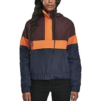 Urban Classics Ladies - Neon Pull-Over Winter Jacket redwine