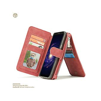 Case For Samsung Galaxy S8 Plus Red Multifunction Portfolio