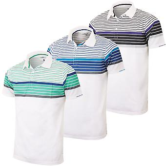 Proquip Golf Hommes Technique Chest Striped Polo Shirt