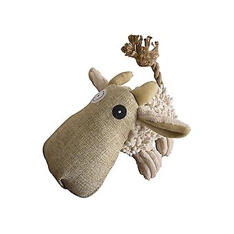 "Petlou Natural Twisted Cow 10"" - Dog Toy"
