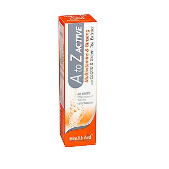Health Aid, A to Z Multivit Effervescent, Tablets 20's