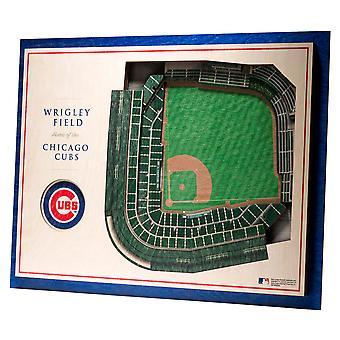 YouTheFan Wood Wall Decoration Stadium Chicago Cubs 43x33cm