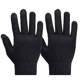 Men's Handschuhe für Touchscreen Touch Eigenschaften konserviert-Akashi, Schwarz