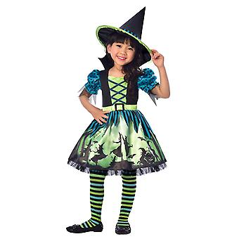 Dziewczyny Hocus Pocus Witch Halloween Fancy Dress Costume