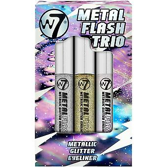W7 Kosmetik Metall Flash Trio - Metallic Glitter Eyeliner