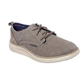 Skechers Mens Status 2.0 Pexton Canvas Shoe With Suede Overlays
